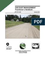 Polímeros  para caminos no pavimentados
