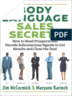 Body Language Sales Secrets - Jim McCormick