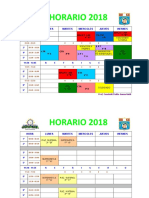 HORARIO  IDALIT  2018