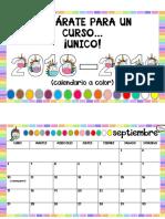 Calendario Escolar 2018 2019 a Color