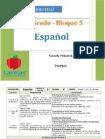 Plan 1er Grado - Bloque 5 Español.doc
