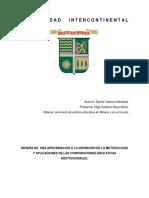 Una Aproximación a La Definición de La Metodología y Aplicaciones de Las Comparaciones Educativas Institucionales.