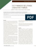 Diagnostico y manejo de litiasis renal