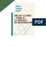 Micah Clarke - 03 - La Bataille de Sedgemoor
