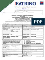 Theatrino 2017 Application Form