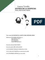 Torralba Rosello Francesc Los Maestros de La Sospecha Marx Nietzsche Freud