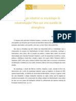 Arqueologia Industrial_ Ou Arqueologia Da Industrialização