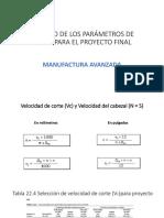 Cálculo de Los Parámetros de Corte Para El (1)
