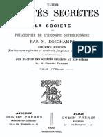 Les Societes Secretes Et La Societe (Tome 1) 000000312