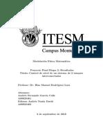 Proyecto Final Modelación Físico-Matemática