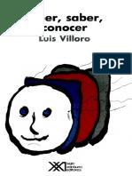 Creer, Saber, Conocer Luis Villoro