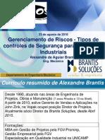Pela Brantis, o Gerenciamento de Riscos - Tipos de controles de Segurança para Processos Industriais