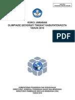 2018 Kunci OSK Geografi