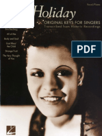 BILLIE HOLIDAY Original Keys for Singers S