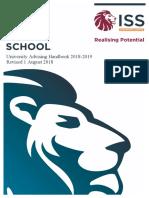 final university advising handbook 2018-19