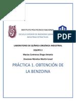 Práctica 1 Química Industrial Obtención de La Benzoína