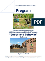 """Program - 15th International Neuroscience and Biological Psychiatry Regional (Asia) ISBS Conference """"STRESS AND BEHAVIOR"""