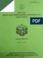 OSP Kebumian 2018 (Soal)
