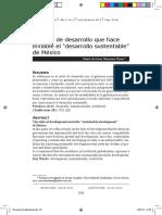 """el estilo de desarollo que hace inviable el """"desarollo sustentable"""" de México"""