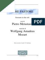 Il Re Pastore Libretto