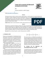 Cálculo Del Caudal a Través de La Ecuación de Bernoulli (1)