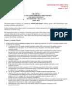 Grading Procedures 2010-2011