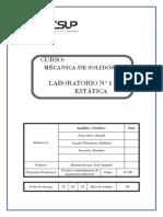 Laboratorio 1 .Mecanica de Solidos