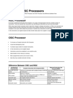 RISC and CISC Processors