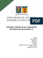 Actividad 4 - Estudio de Los Componentes Del Sistema de Control Parte I, II.