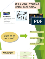 Biologia Origen de La Vida Tema 1