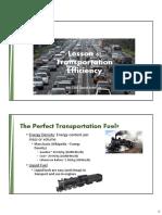 Transportation Efficiency Fall 2016 090916