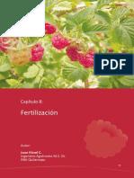 Fertilización Frambuesa