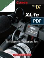 Manual camara canon xl1s