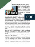 Autogolpe de Estado de Perú