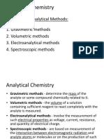 1. Analytical Chemistry