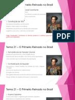 Tema 21 – O Primeiro Reinado No Brasil