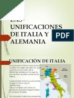 Las Unificaciones de Italia y Alemania
