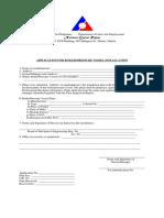 Application for Boiler Pressure Vessel Installation