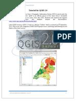 Tutorial for QGIS 2.0