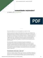 ¿Qué Son Comunidades Misionales_ - Coalición Por El Evangelio