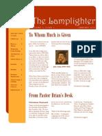 Jan 2010 Lamplighter Newsletter, LaFayette Alliance Church