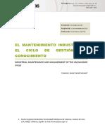 Dialnet-ElMantenimientoIndustrialYElCicloDeGestionDelConoc-4817945