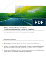 Patient Access Operations - Going the Extra Mile!
