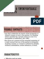 VOIDABLE Unenforceable Contracts