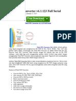 Total PDF Converter v6.1.123 Full Serial