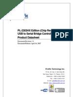 1734 Datasheet PL2303
