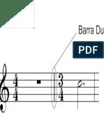 Ilustração Indicativa de Barra Dupla