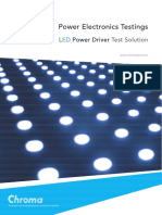 Power Electronics Testings Turnkey Test & Automation Solution Provider LED Power Driver Test SolutionLED-DriverTest-E
