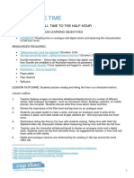 Telling the Time Lesson Plan