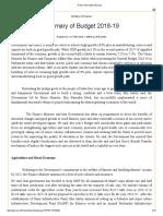 Press Information Bureau Budget Summary